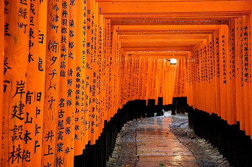 Fushimi Inari Taisha Shrine Tunnel of Torii Gates