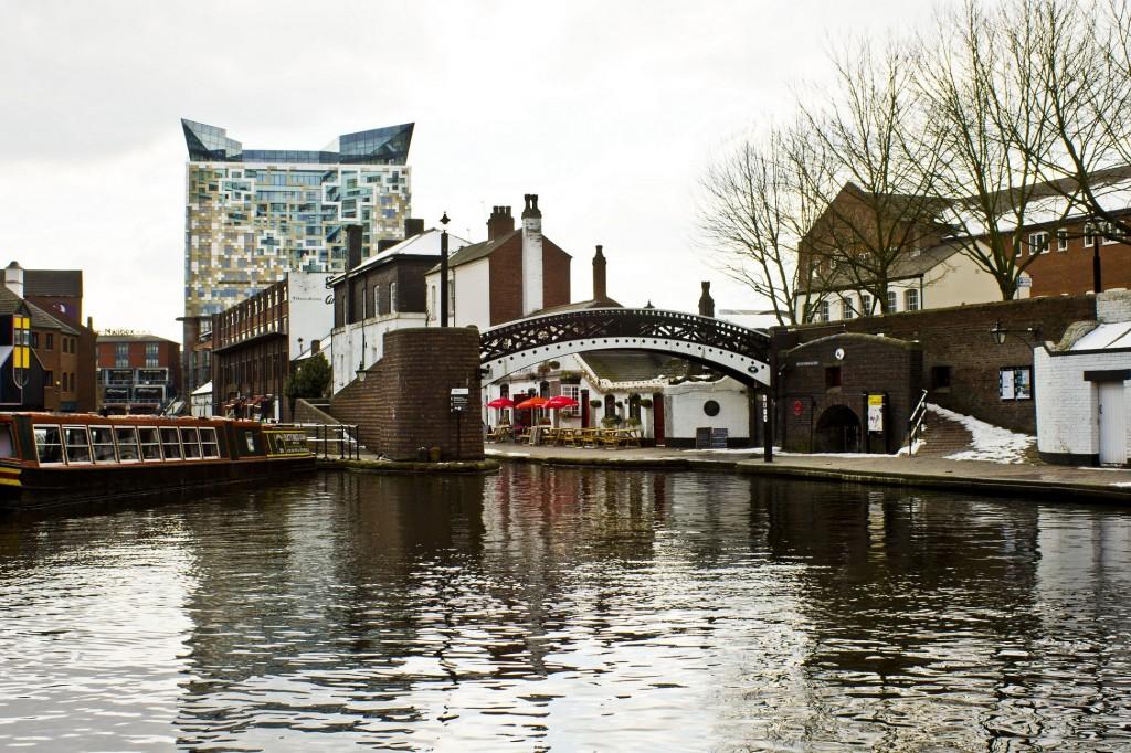 Gas Street Basin on Birmingham's canal network