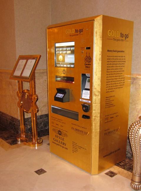 Gold vending machine in Dubai   ©Guðmundur Ólafsson / Wikimedia