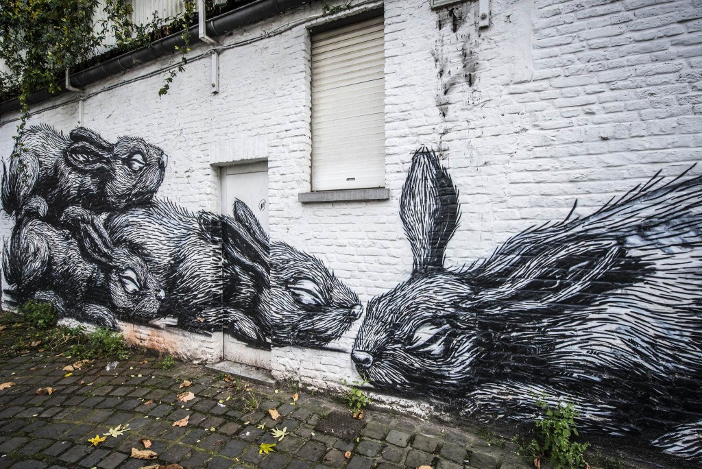 Bunnies in Ghent, part of the city's Concrete Canvas Tour | Courtesy of Visit Gent