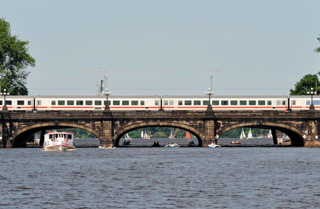 Hamburg bridge across Alster