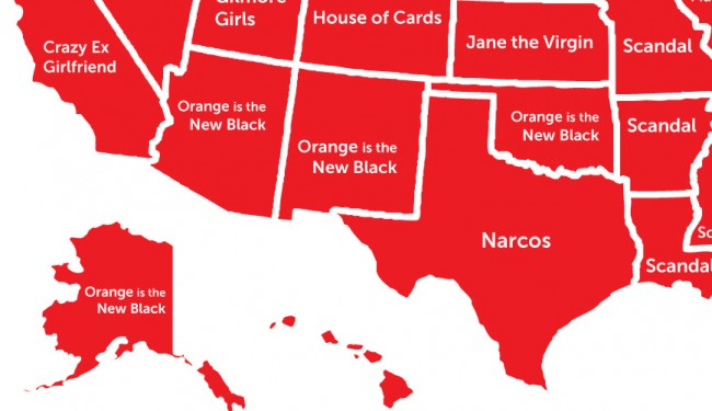 This Map Shows the Most Popular Netflix Show in the World, and It's