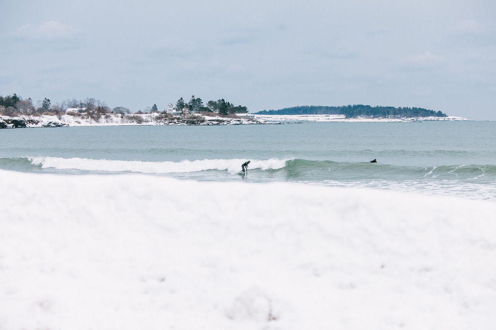 Snow won't stop surfers from taking to the water | © Corey McKenna