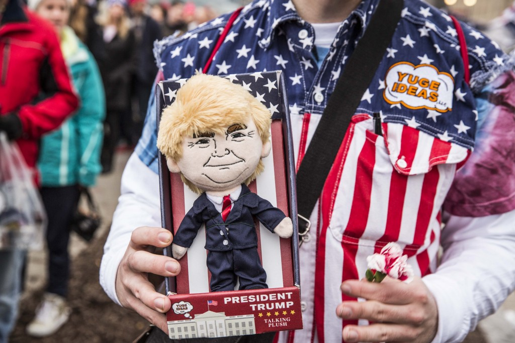 The doll's packaging had a checklist of everything Trump promised on the campaign trail | © Amanda Suarez