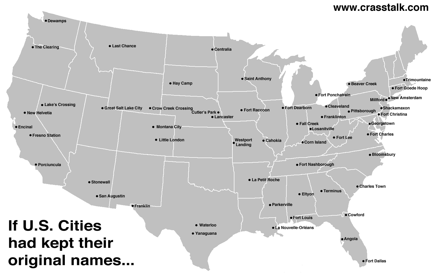 Funny And Interesting Maps That Show Just How Weird America - Map of usa with states named