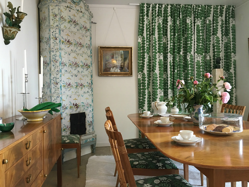The dining room in Anne's house, Millesgarden. Fitted with Josef Frank furniture by Estrid Ericson © Millesgarden.