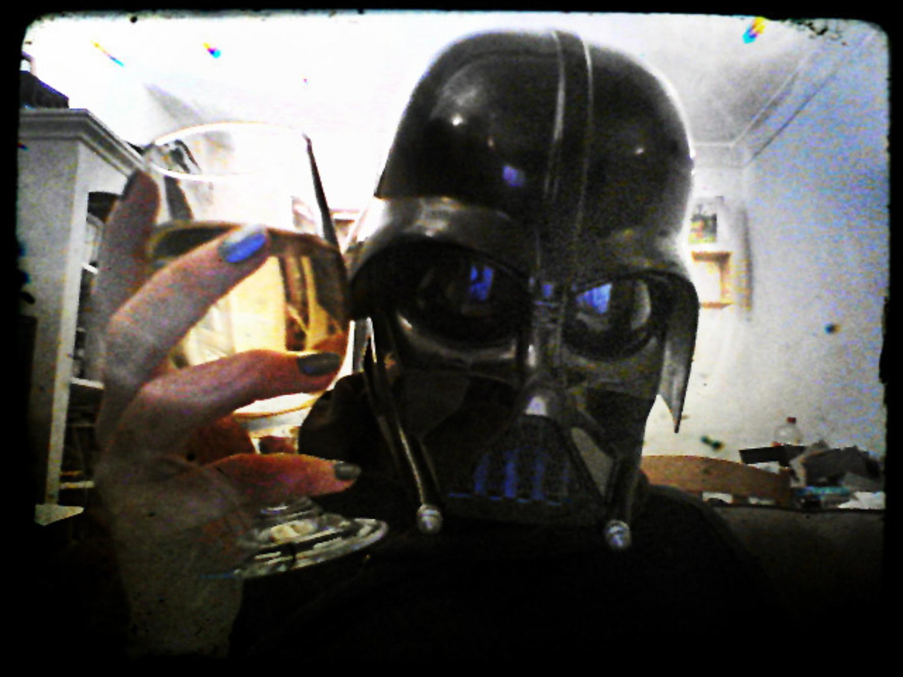 Liz Sterry 5 - Drinking whiskey as Darth Vader