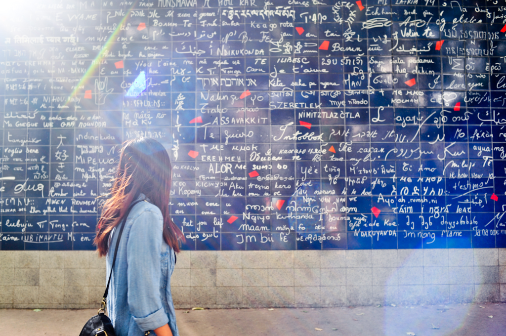 Love Wall in Montmartre │© Iamhao / WikiCommons