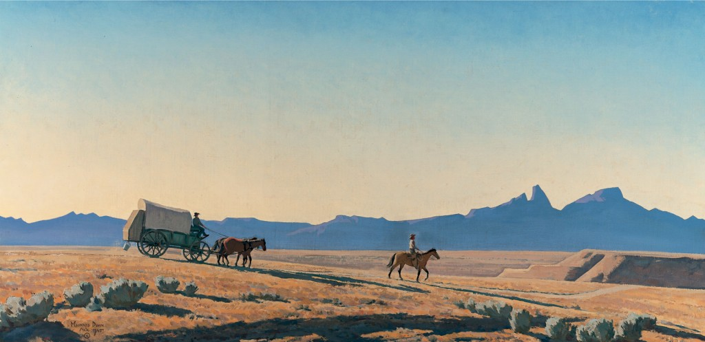 Maynard Dixon, 'Road to the Ranch', 1945 | Courtesy The Lucas Museum