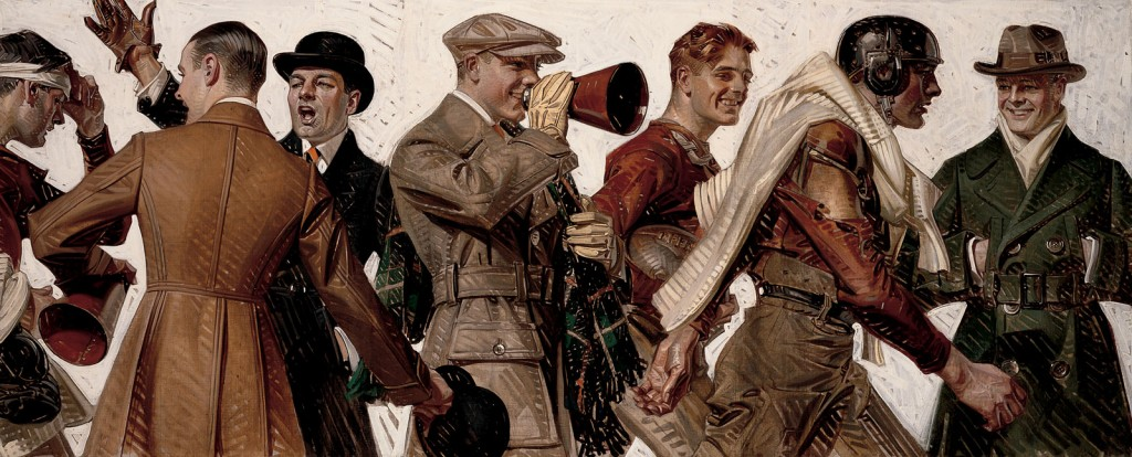 Joseph Christian Leyendecker, 'Football Players & Fans' 1920 | Courtesy The Lucas Museum