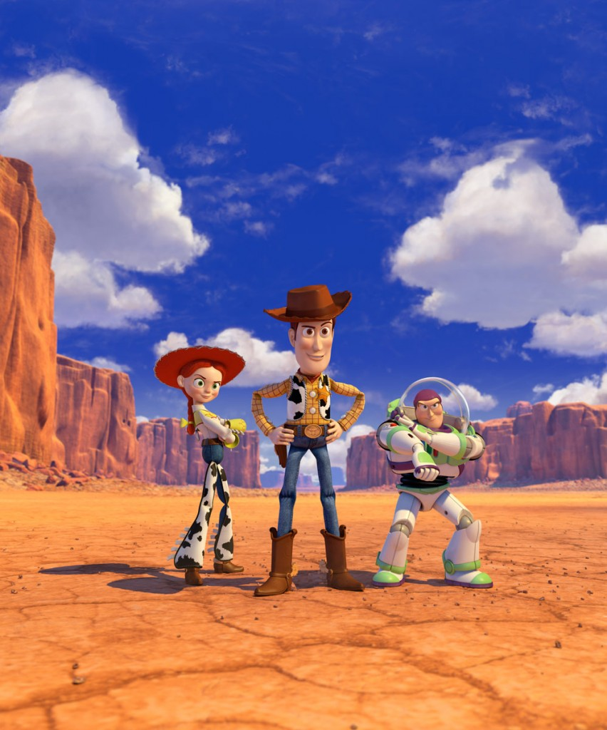 Jessie, Woody and Buzz in Toy Story 3 | © Disney/Pixar. Courtesy The Lucas Museum