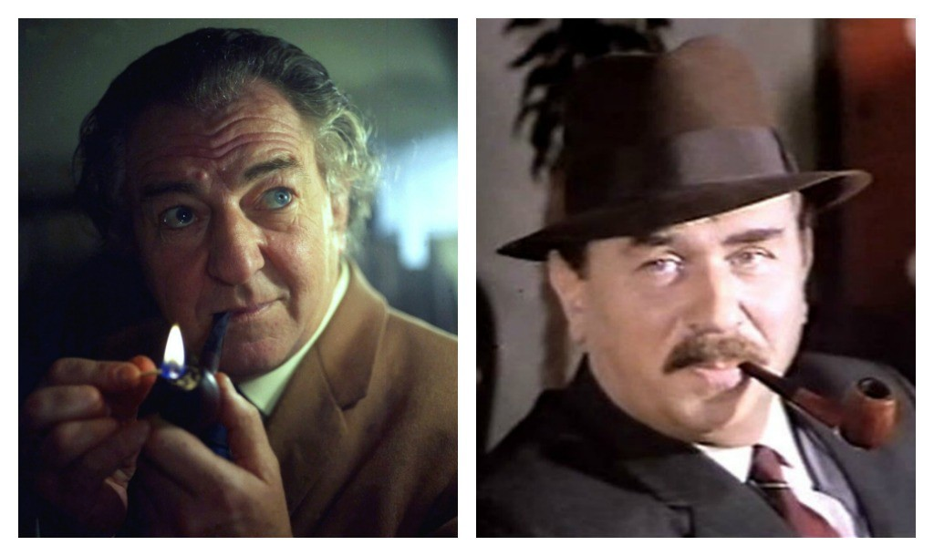 Rupert Davies playing Maigret | © Allan Warren/WikiCommons | Gino Cervi playing Maigret | © Public Domain/WikiCommons