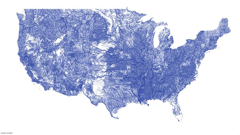 This Map Shows You All The Major Rivers In The United States