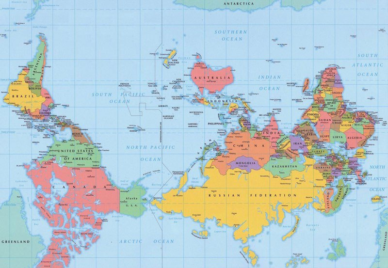 These 20 shocking maps will make you question the world and finally this map shows you what the world would look like if it were upside down gumiabroncs Choice Image