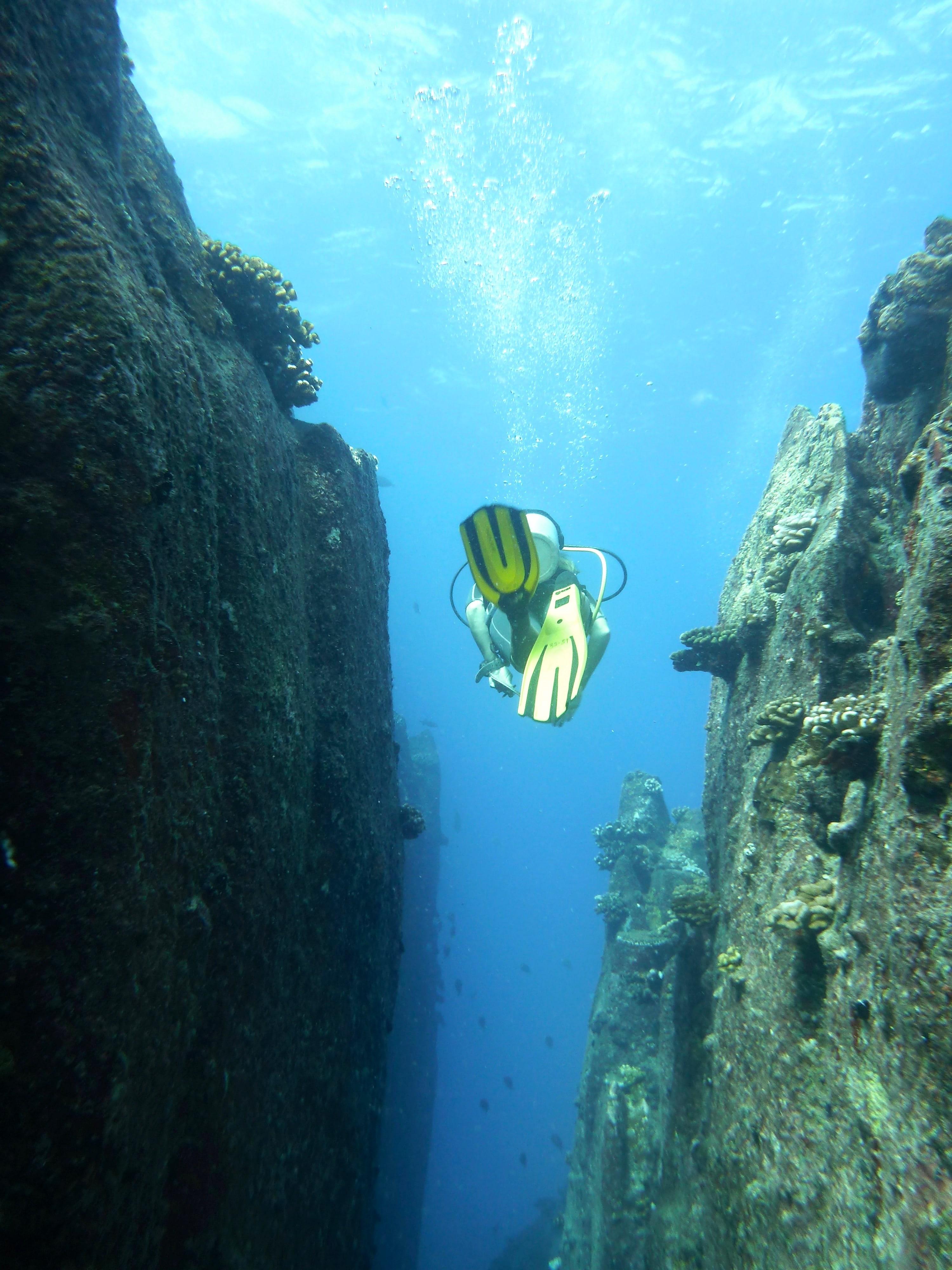 Swim through at South Mariaan island.   ©Chantelle Howell