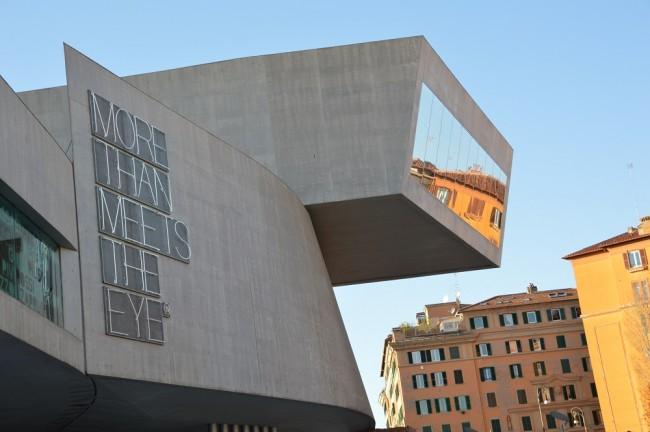 Exterior view of MAXXI designed by world-renowned architect, Zaha Hadid, Courtesy Photo   Lisa Morales