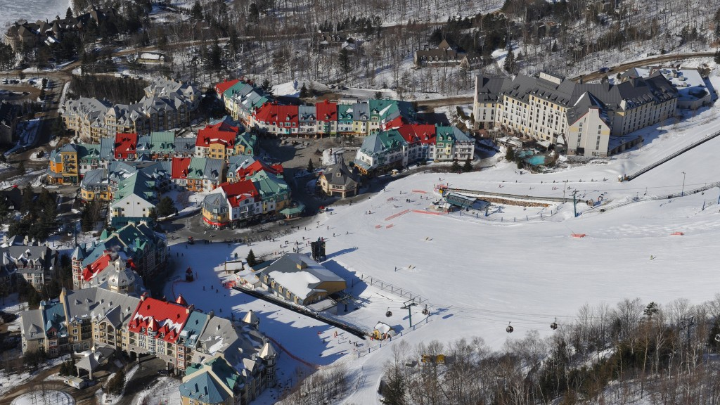 Mont Tremblant village from the slopes | © Station Mont Tremblant / Flickr