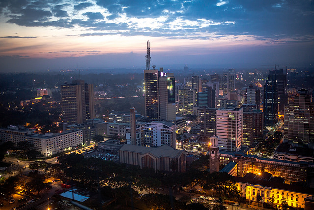 View of Nairobi city at night from the KICC rooftop | © Make It Kenya Photo / Stuart Price / Flickr