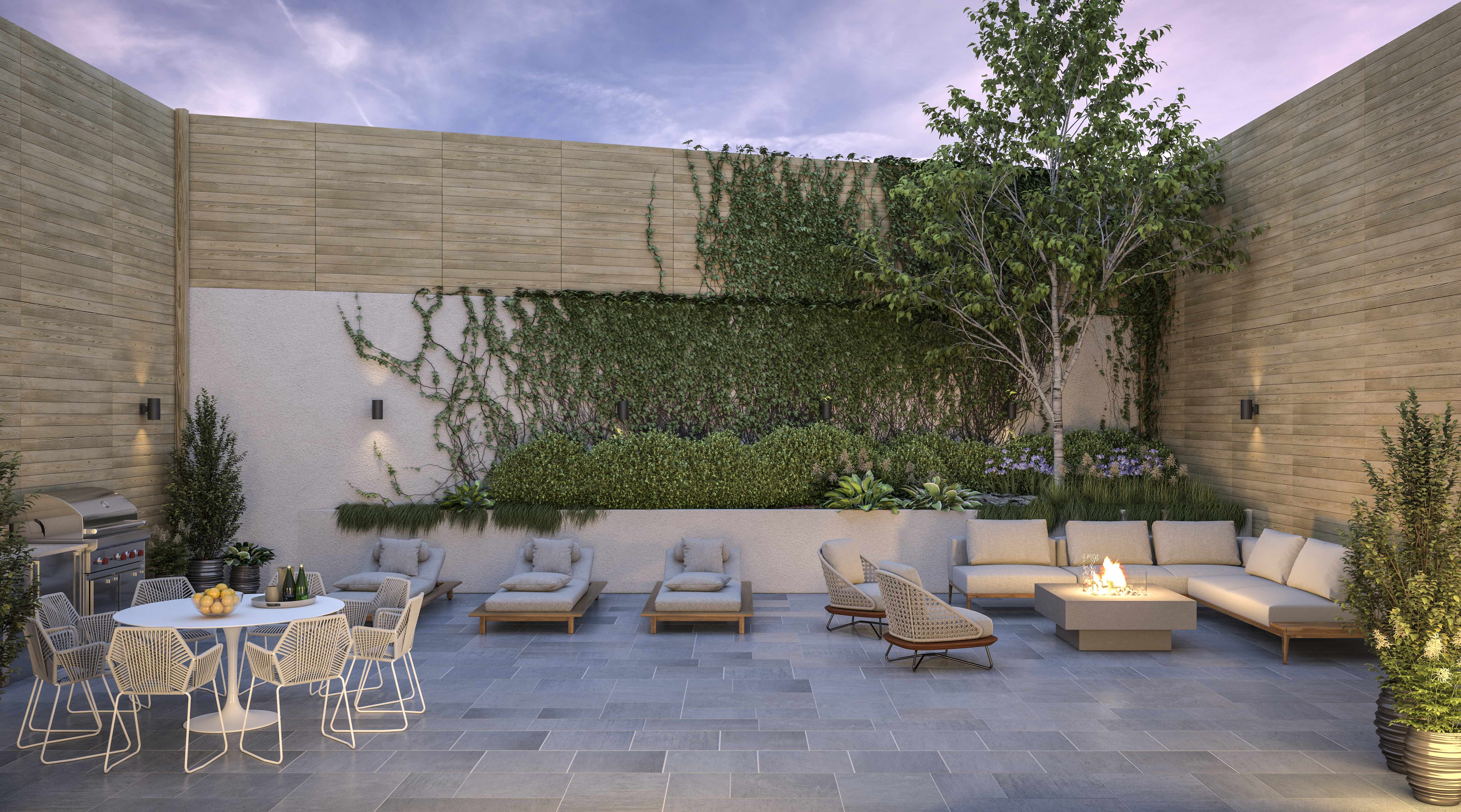 Williamsburg rooftop, Sixth & Meyer © Douglas Elliman, Courtesy of The Peters O'Brien Team
