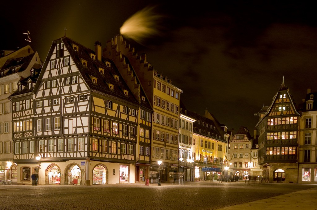 Place de la Cathedral at night ©Philippe de Rexel / OT Strasbourg