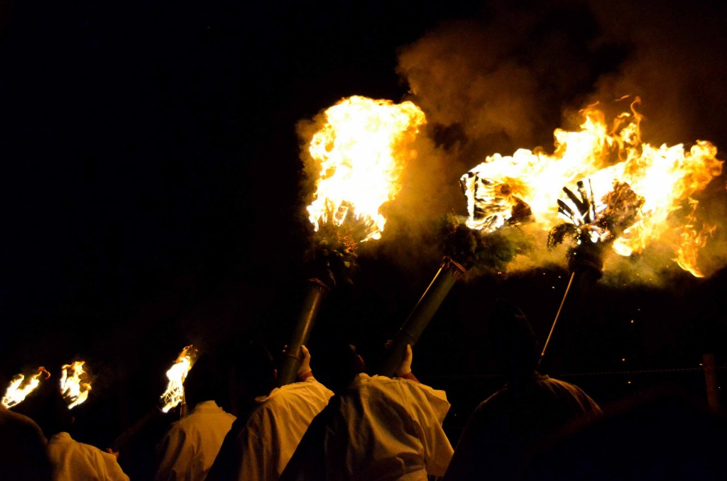 Procession to the bonfire