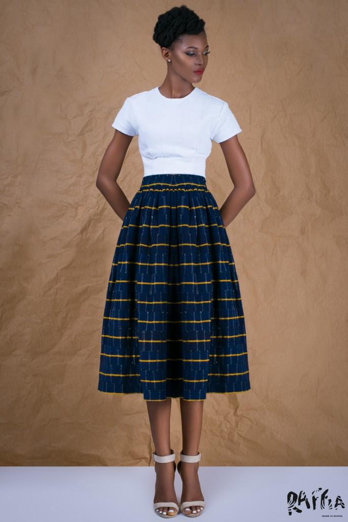 Bisha gathered skirt from Raffia | Courtesy of Raffia