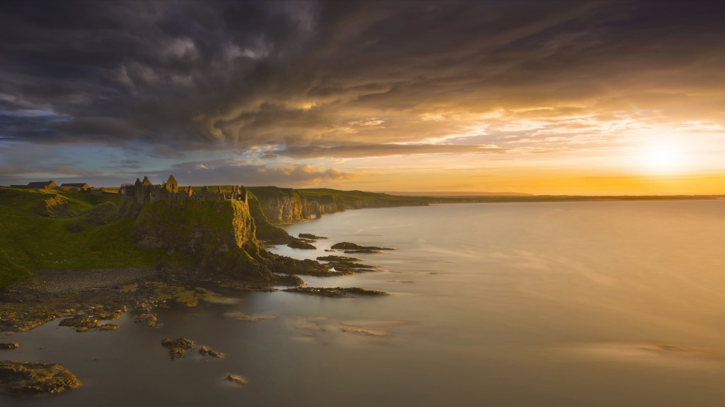 Rashid Khaidanov, clouds forming over Dunluce Castle, Northern Ireland
