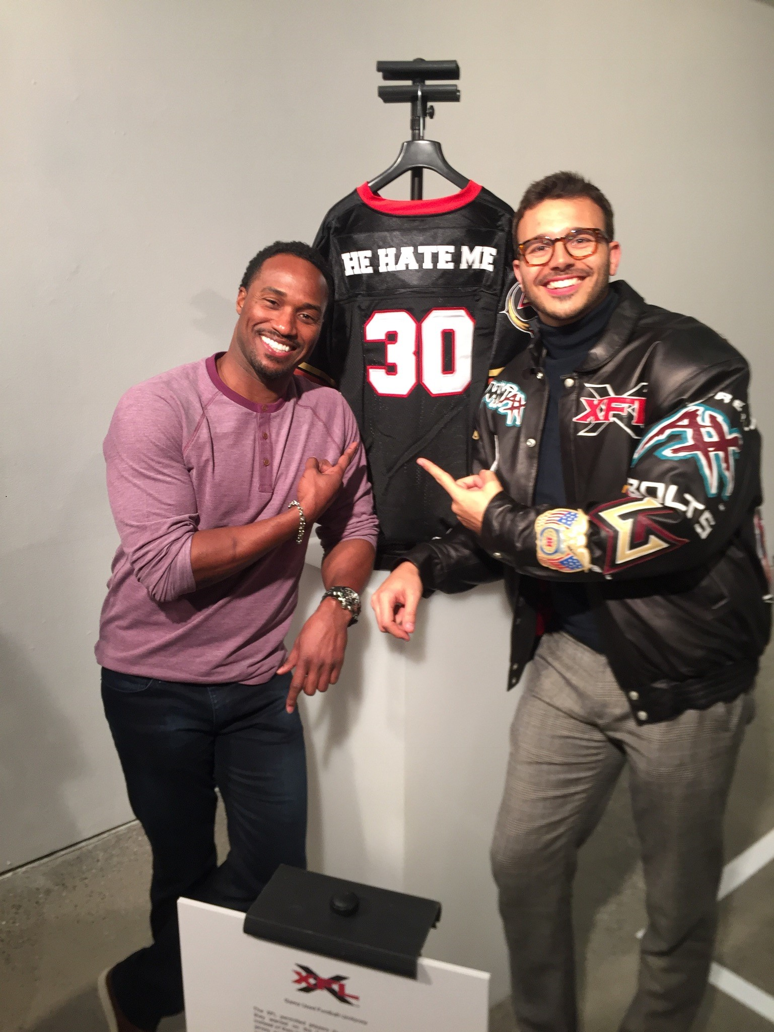 rod smart left and espn 30 for 30 director charlie ebersol at the xfl
