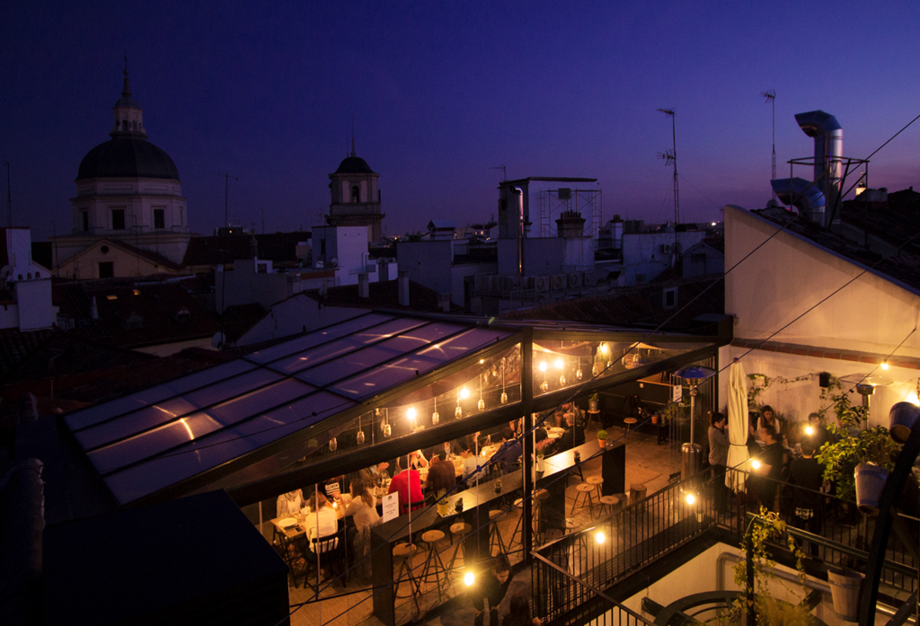The Hat rooftop offers sunset views | © The Hat Madrid