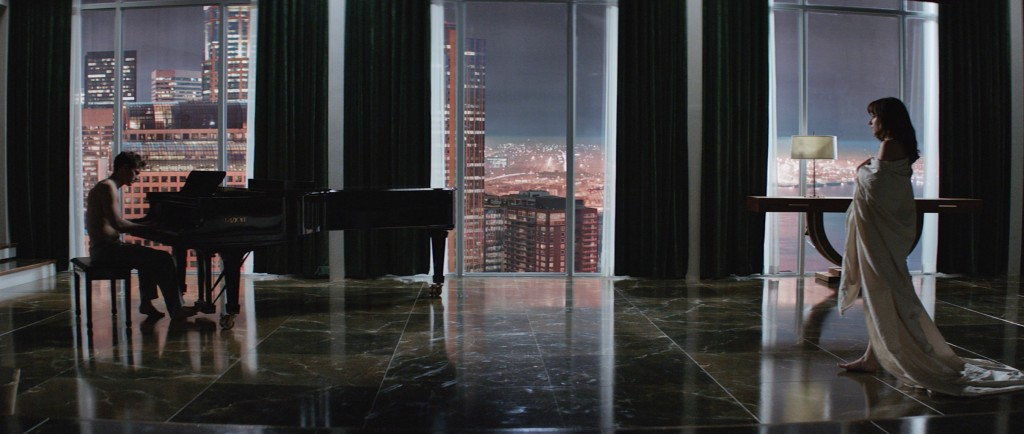 Jamie Dornan and Dakota Johnson in 'Fifty Shades of Grey'   Courtesy of Universal Pictures