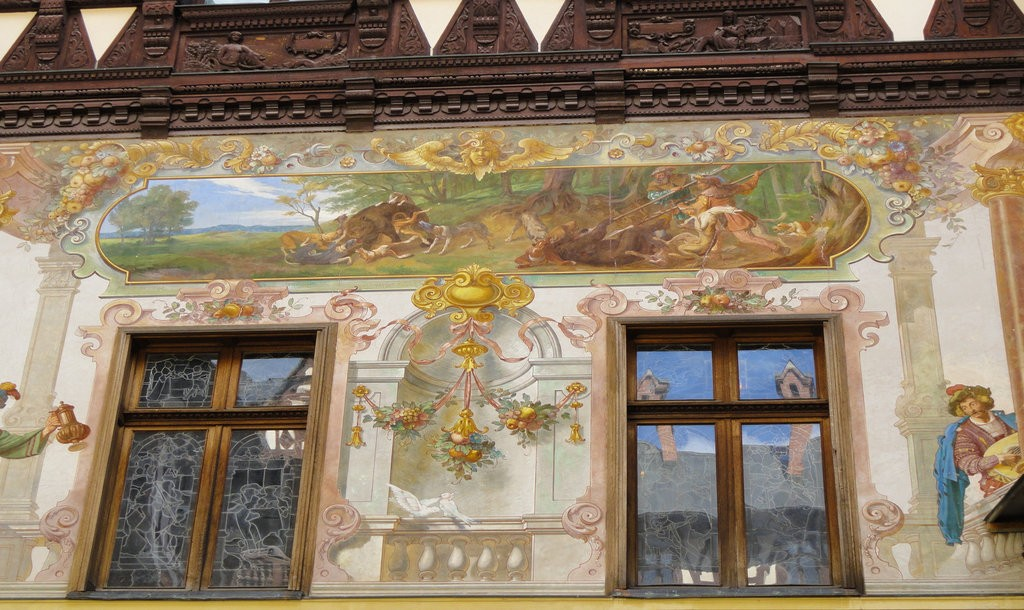 Peleș Castle fresco | © Espino Family/ Flickr