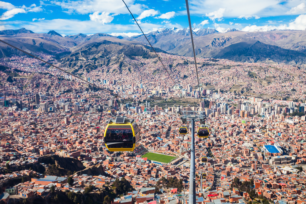 Jump on La Paz' cable car for an unbeatable view of the city | © saiko3p/Shutterstock
