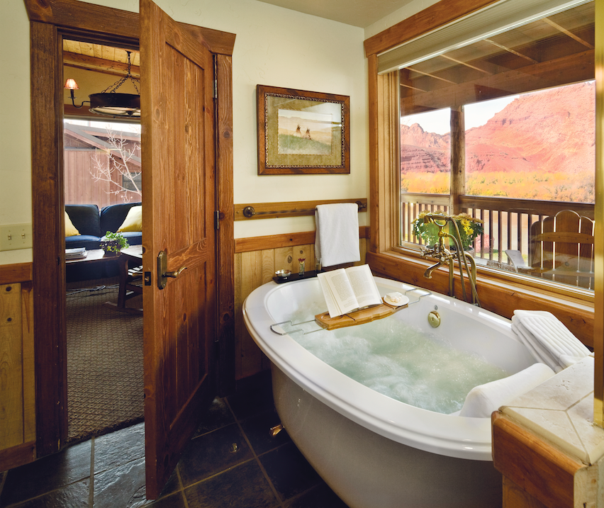 Tub with a view | Courtesy of Sorrel River Ranch Resort and Spa