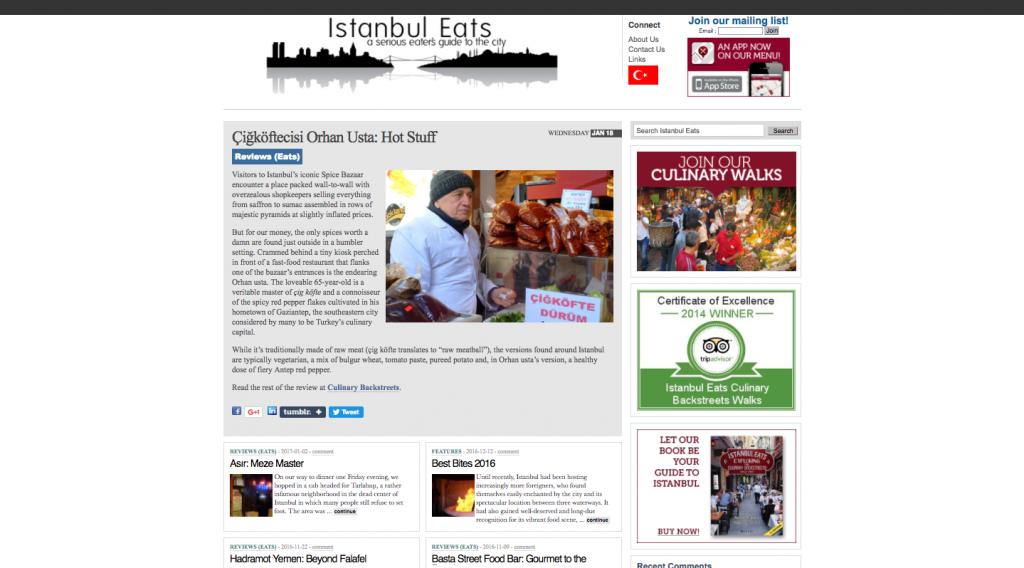 Screenshot of Istanbul Eats