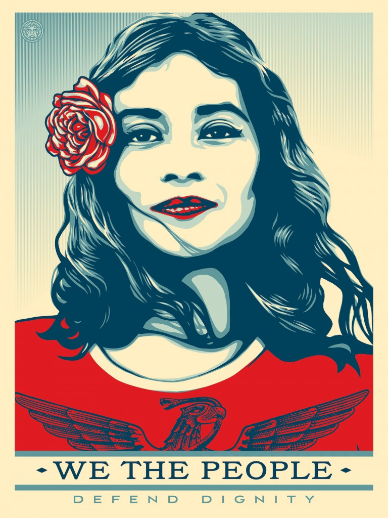 We The People by Shepard Fairey | Courtesy of the artist and The Amplifier Foundation
