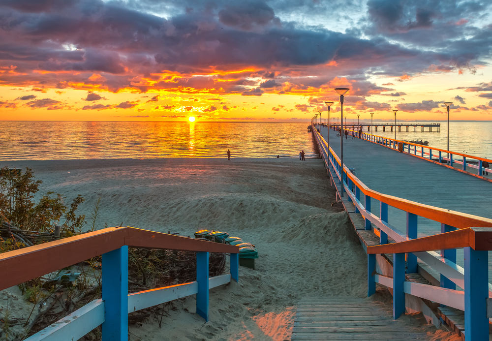 Palanga at sunset | ©Sergei25/Shutterstock