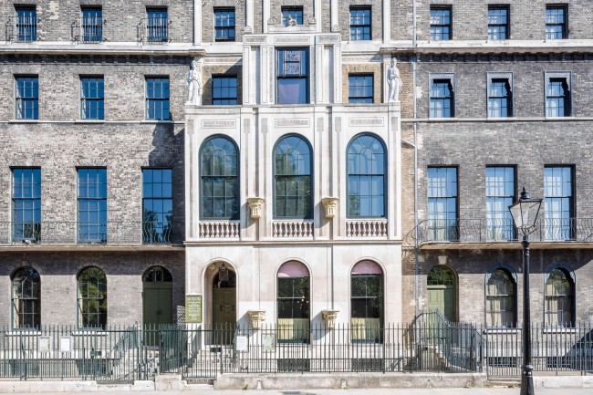 The facade of Sir John Soane's museum
