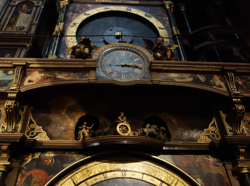 The masterly astronomical clock in Strasbourg Cathedral ©Sylvia Edwards Davis
