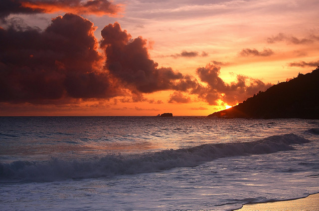 Sunset at Anse Intendance | ©Adrian Scottow / Flickr