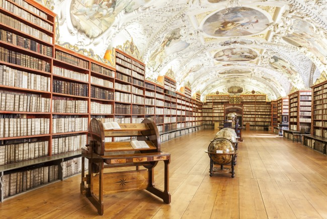 The Theological Hall in Strahov monastery in Prague, one of the finest library interiors in Europe / ©Maciej Bledowski / Shutterstock