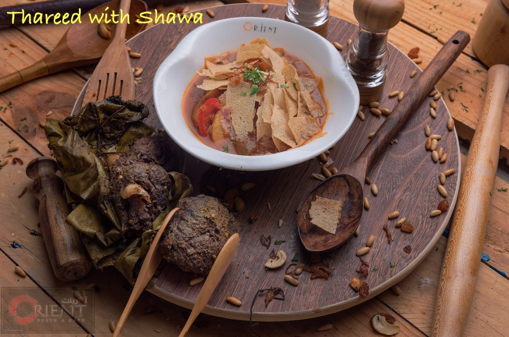 Traditional Omani Cuisine-Threed With Shuwa from Orient Resturant