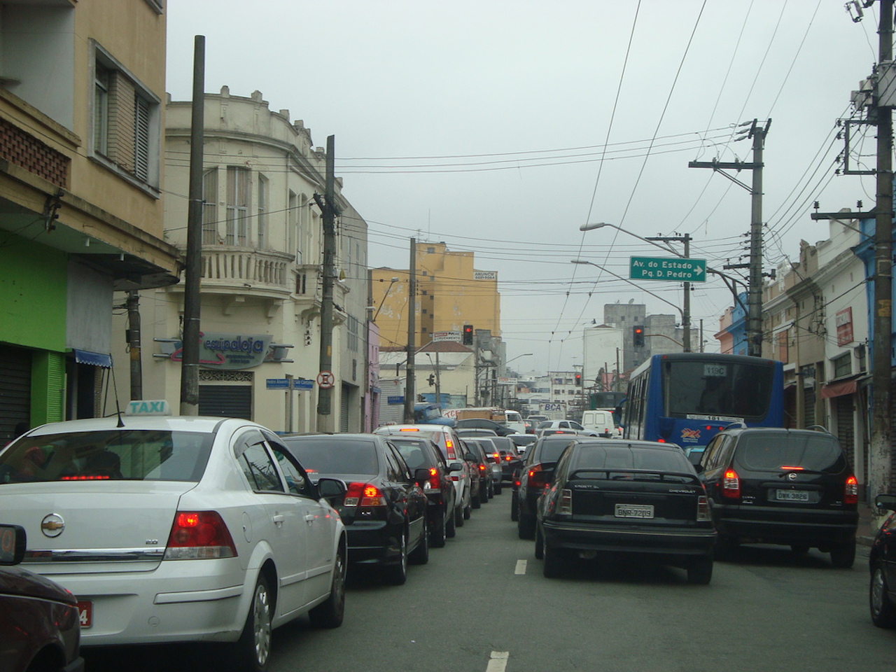 Traffic jam in Sao Paulo   © Marcos Paulo Dias/Flickr