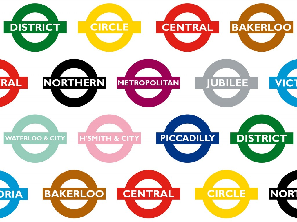 A collection of the different tube signs