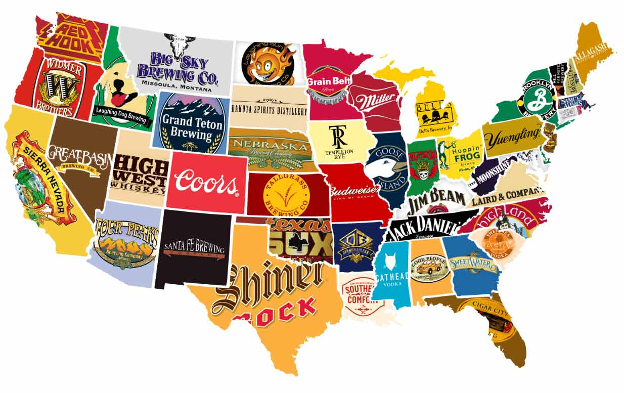 Funny And Interesting Maps That Show Just How Weird America - State map of us