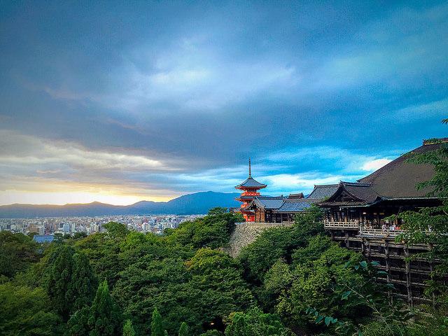 View Over Kyoto from Kiyomizu-dera Temple