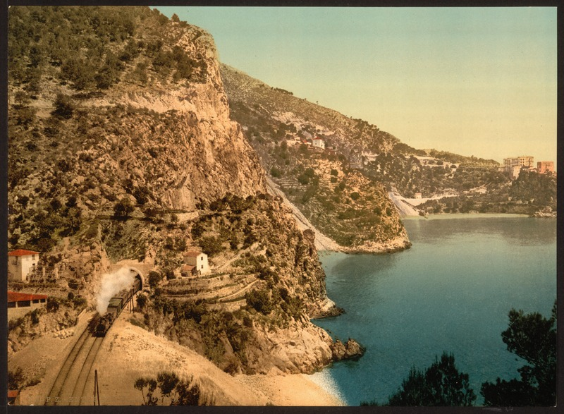 The road to Èze from Villefranche has little changed since 1890 | © unknown/WikiCommons