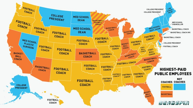 These Shocking Maps Will Make You Question The World - Map of all colleges in the us