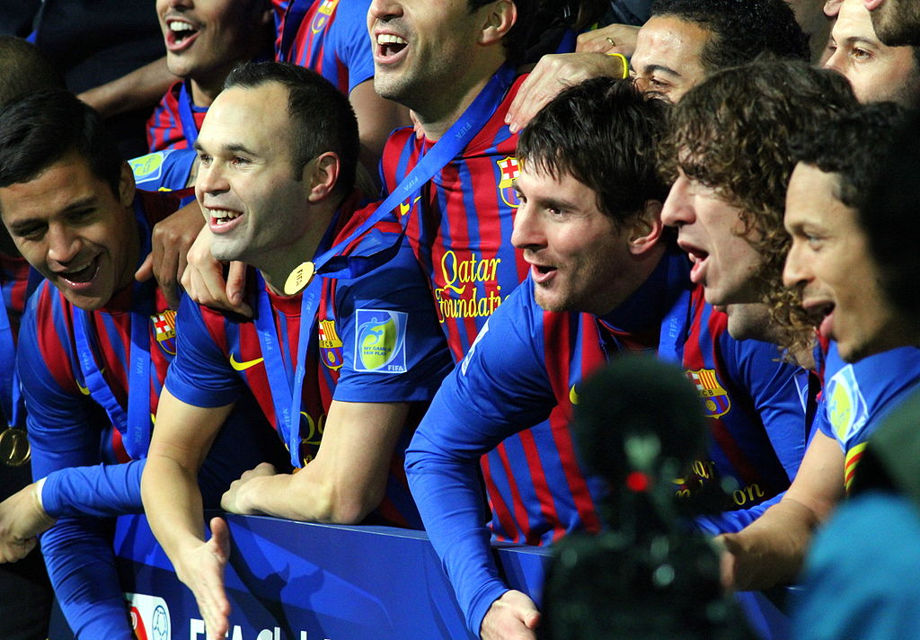 Lionel messi and the Barna team © Christopher Johnson