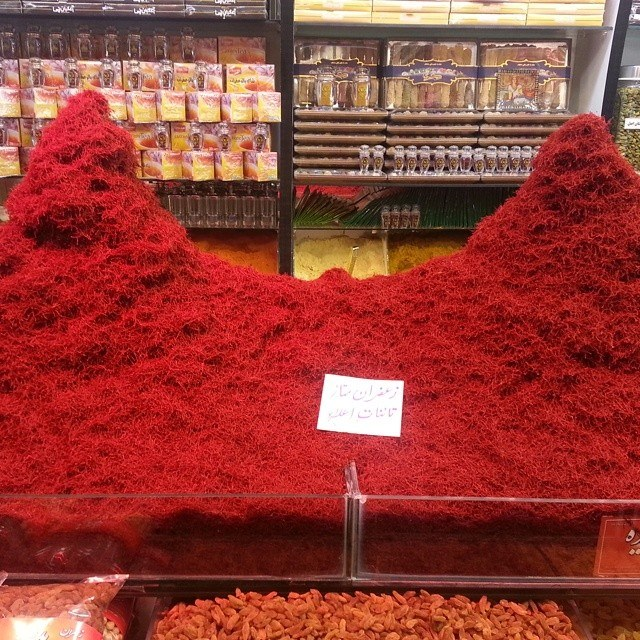 Heaps of saffron | © Pontia Fallahi