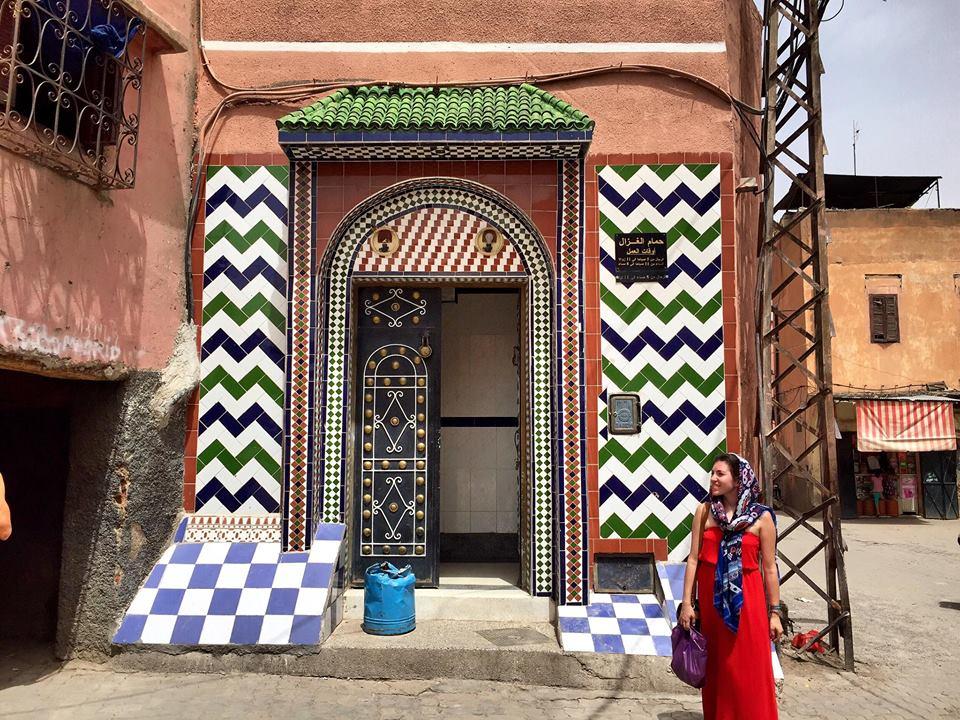 Author in Marrakech © Nikki Vargas